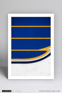 Minimalist Logo - St. Louis Blues - St. Louis Blues - S. Preston