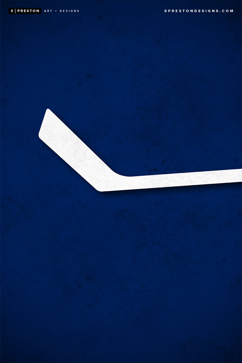 Minimalist Logo - Vancouver Canucks Poster Print