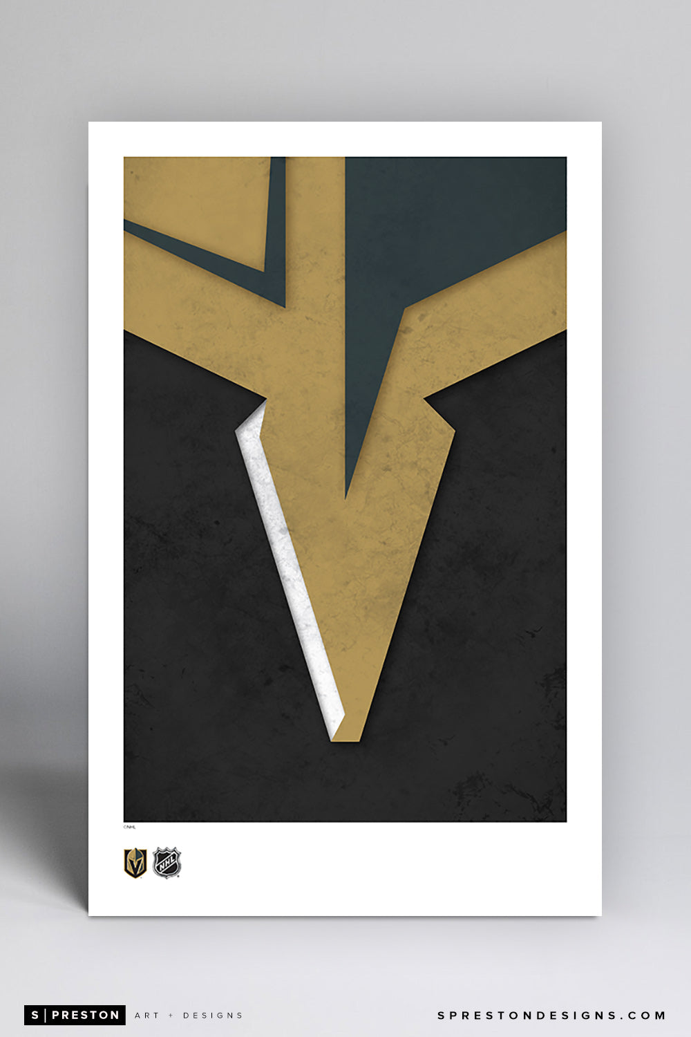 Minimalist Logo - Vegas Golden Knights Poster Print Vegas Golden Knights - S Preston