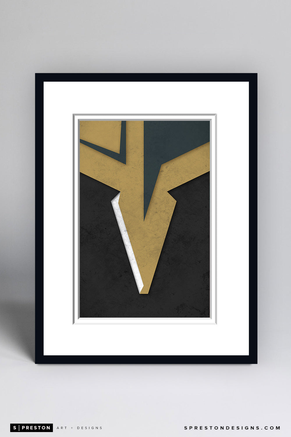 Minimalist Logo - Vegas Golden Knights - Vegas Golden Knights - S. Preston