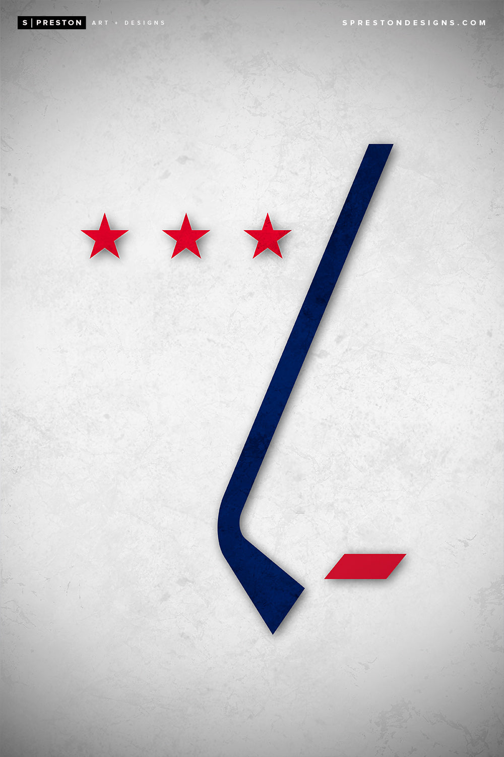 Minimalist Logo - Washington Capitals Poster Print Washington Capitals - S Preston