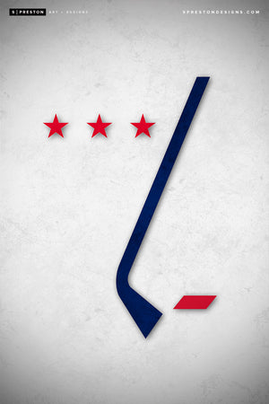 Minimalist Logo - Washington Capitals Art Poster