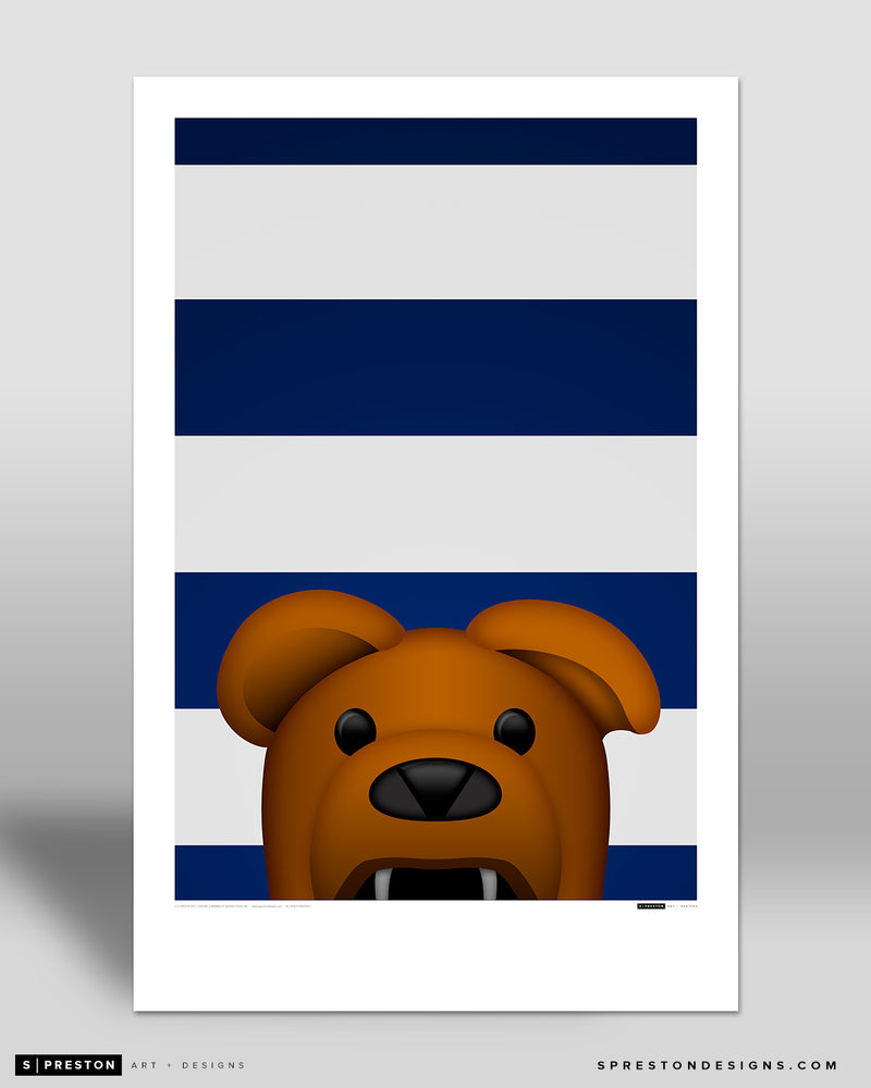 Minimalist Nittany Lion Art Poster