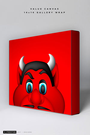 Minimalist NJ Devil Value Canvas