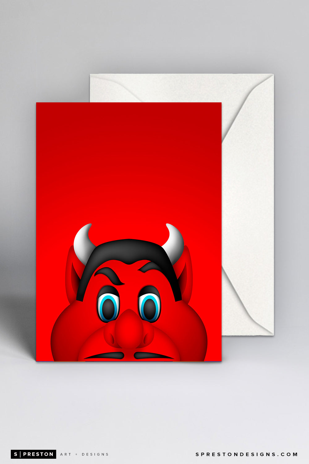 Minimalist NJ Devil Note Card