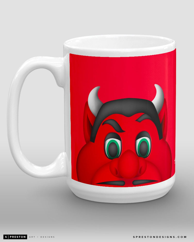 Minimalist NJ Devil Coffee Mug - NHL Licensed - New Jersey Devils Mascot