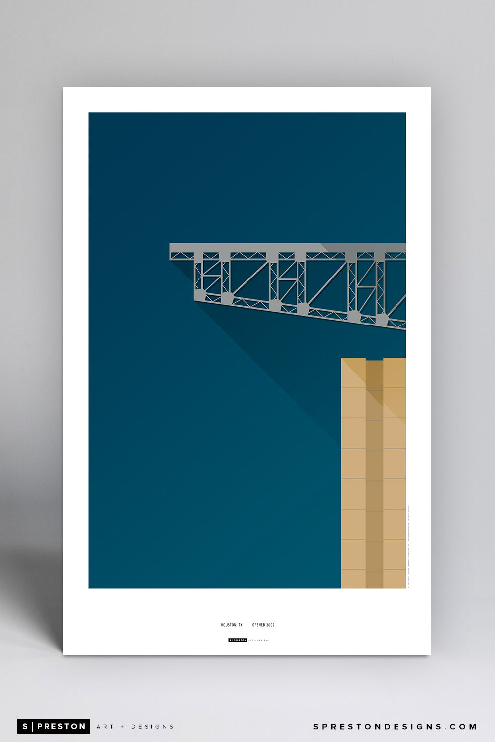 Minimalist NRG Stadium Poster Print Houston Texans - S Preston