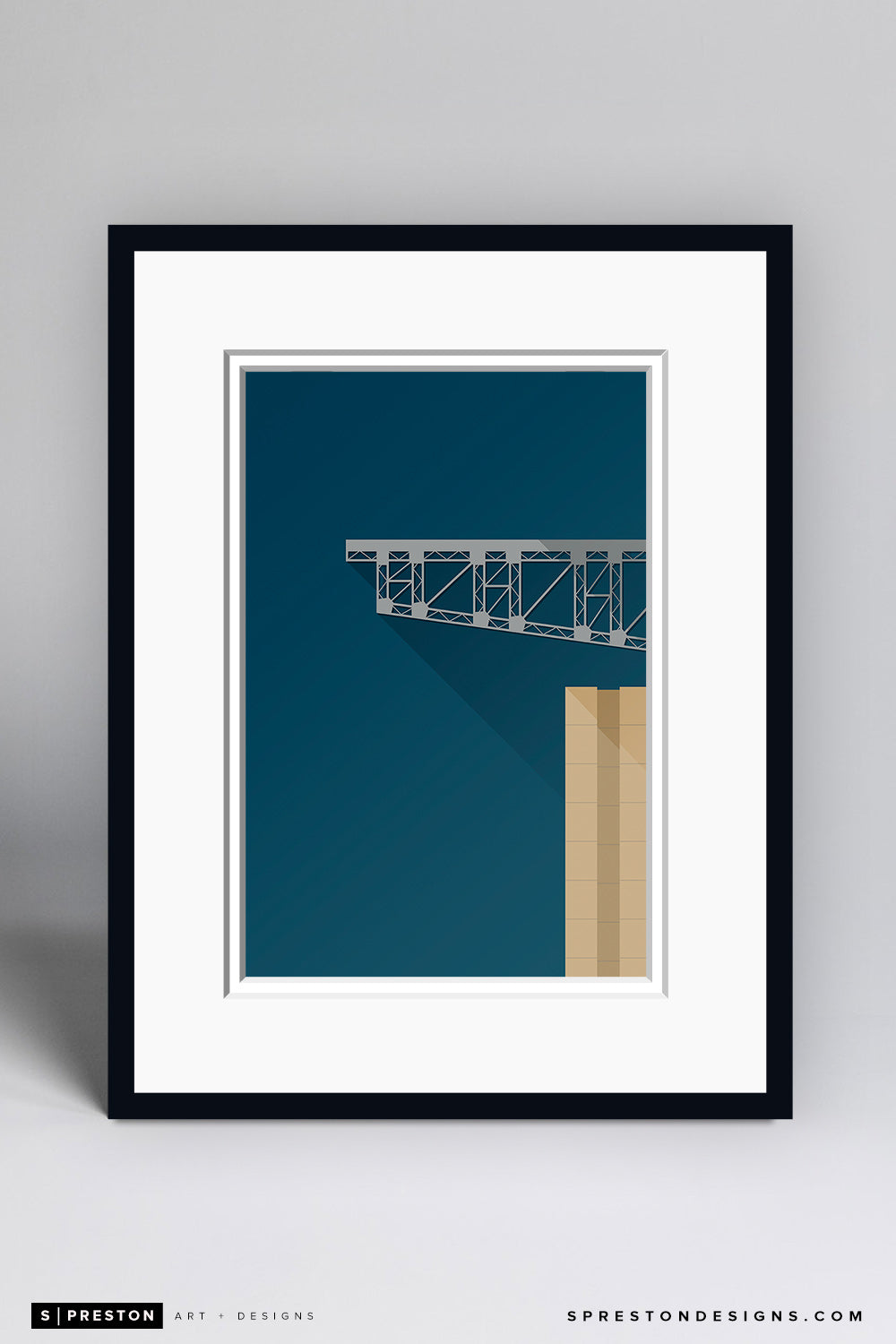 Minimalist NRG Stadium Art Print - Houston Texans - S. Preston Art + Designs