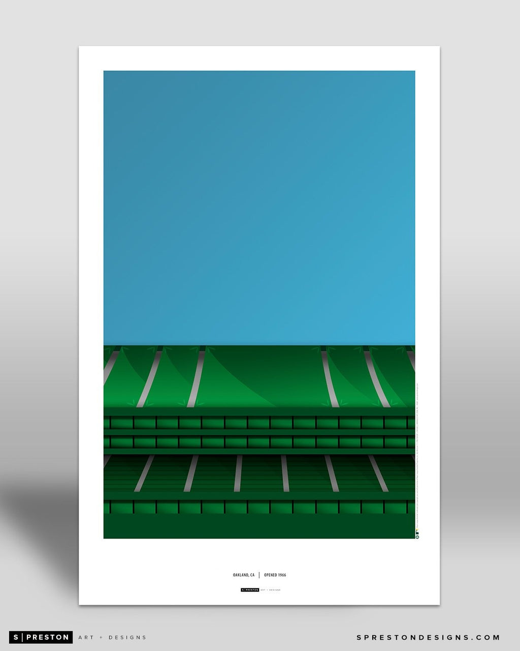 Minimalist Oakland Coliseum Art Poster - Clearance