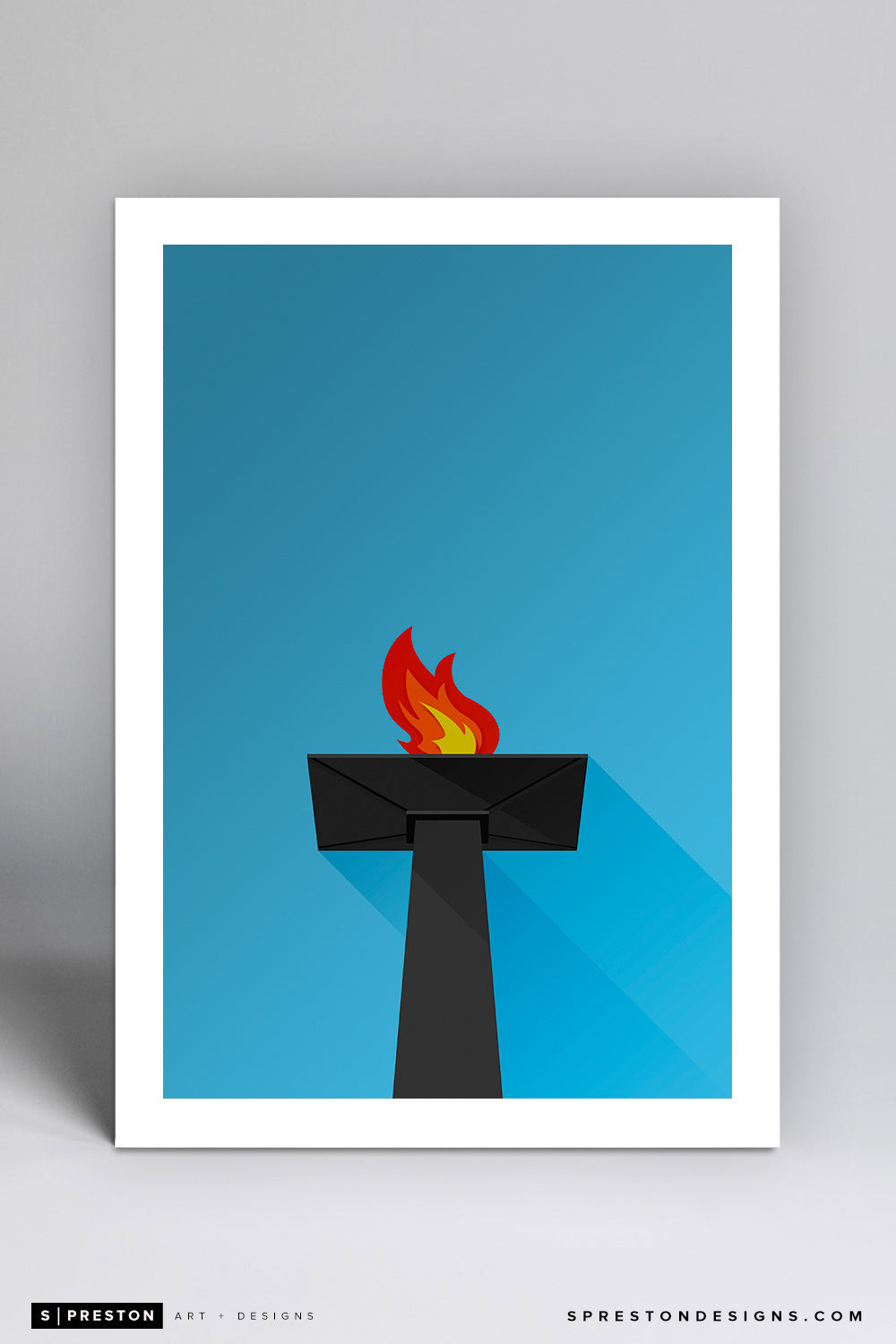 Minimalist Oakland Coliseum Art Print - Oakland Raiders - S. Preston Art + Designs