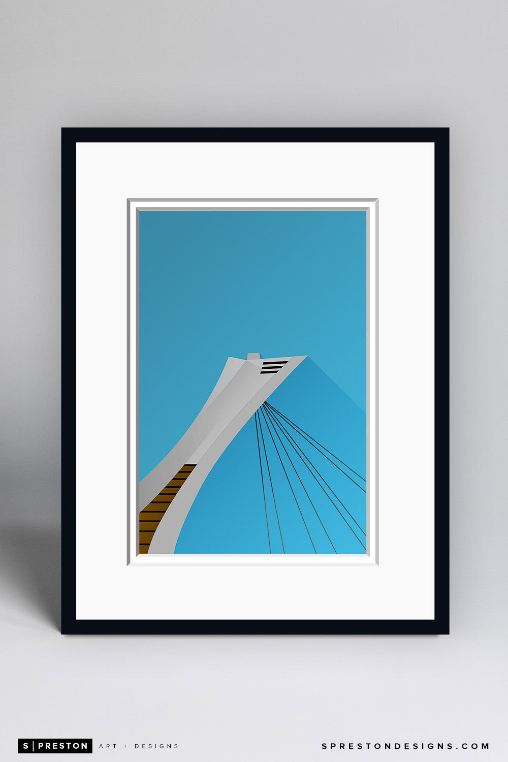Minimalist Olympic Stadium Art Print - Montreal Expos - S. Preston Art + Designs