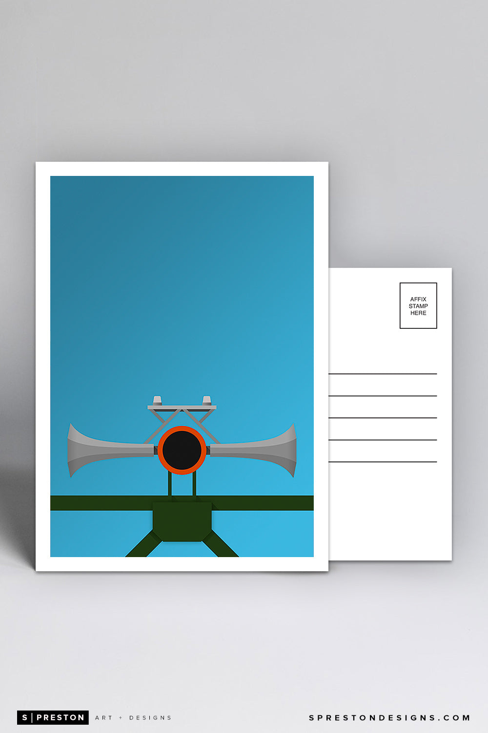 Minimalist Oracle Park Postcard