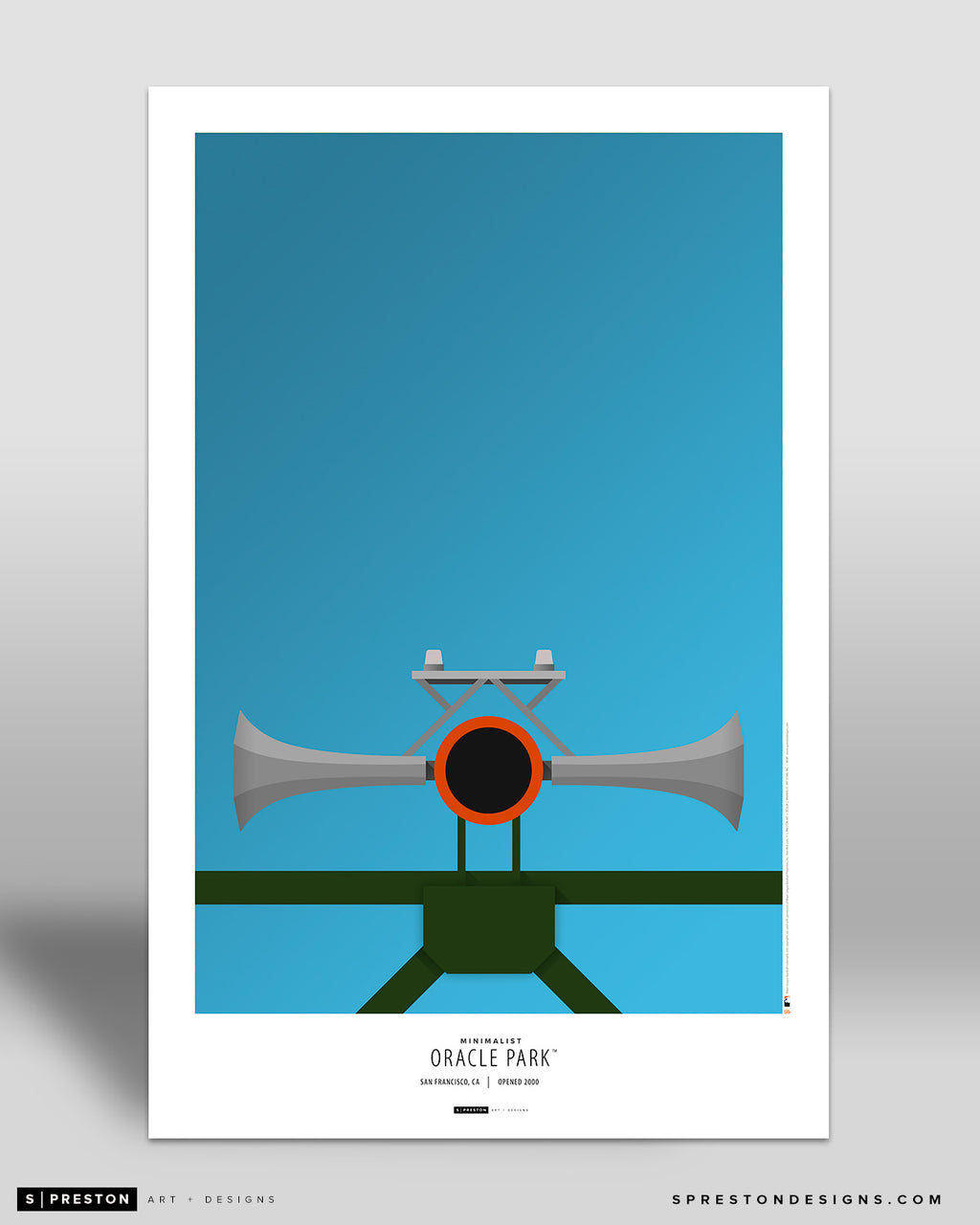Minimalist Oracle Park Poster Print San Francisco Giants - S Preston