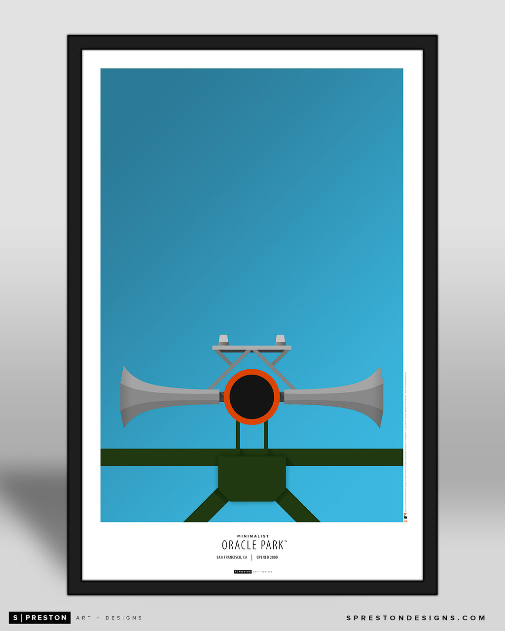 Minimalist Oracle Park Art Poster