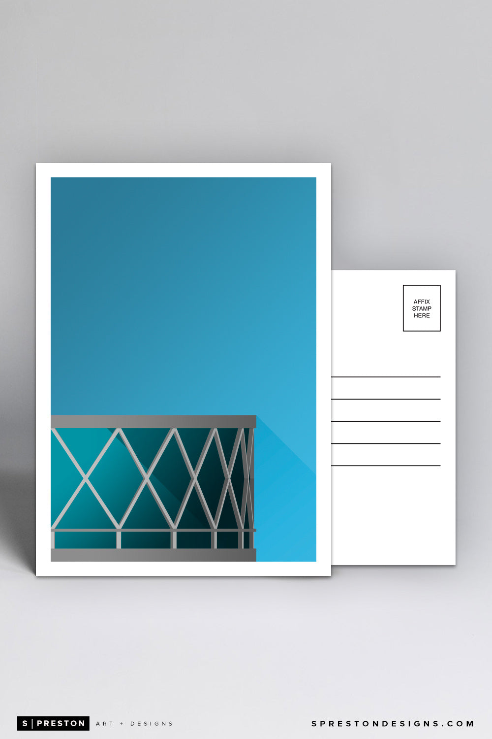 Minimalist Oracle Arena Postcard