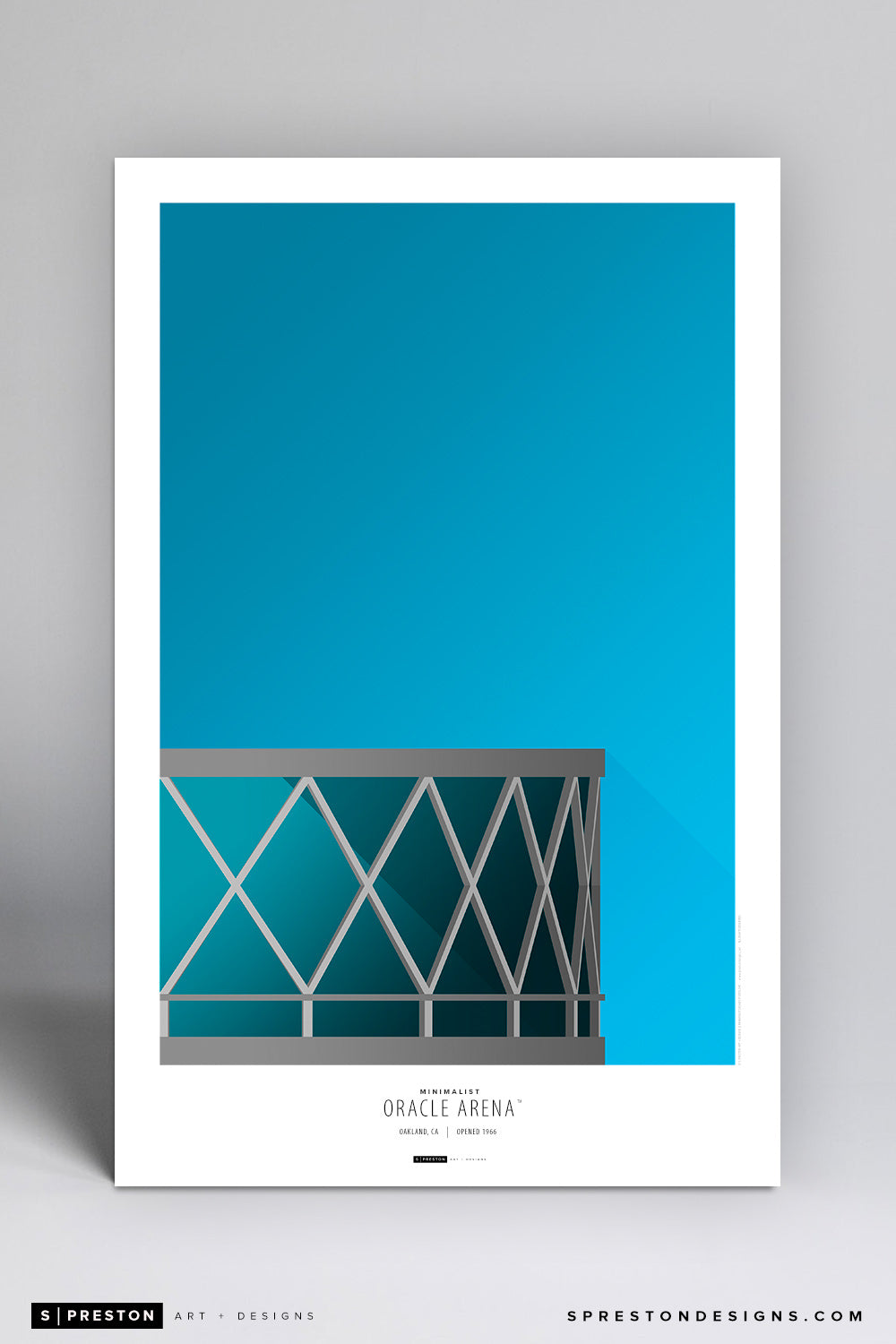 Minimalist Oracle Arena Art Poster