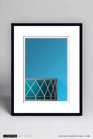 Minimalist Oracle Arena - Golden State Warriors - S. Preston
