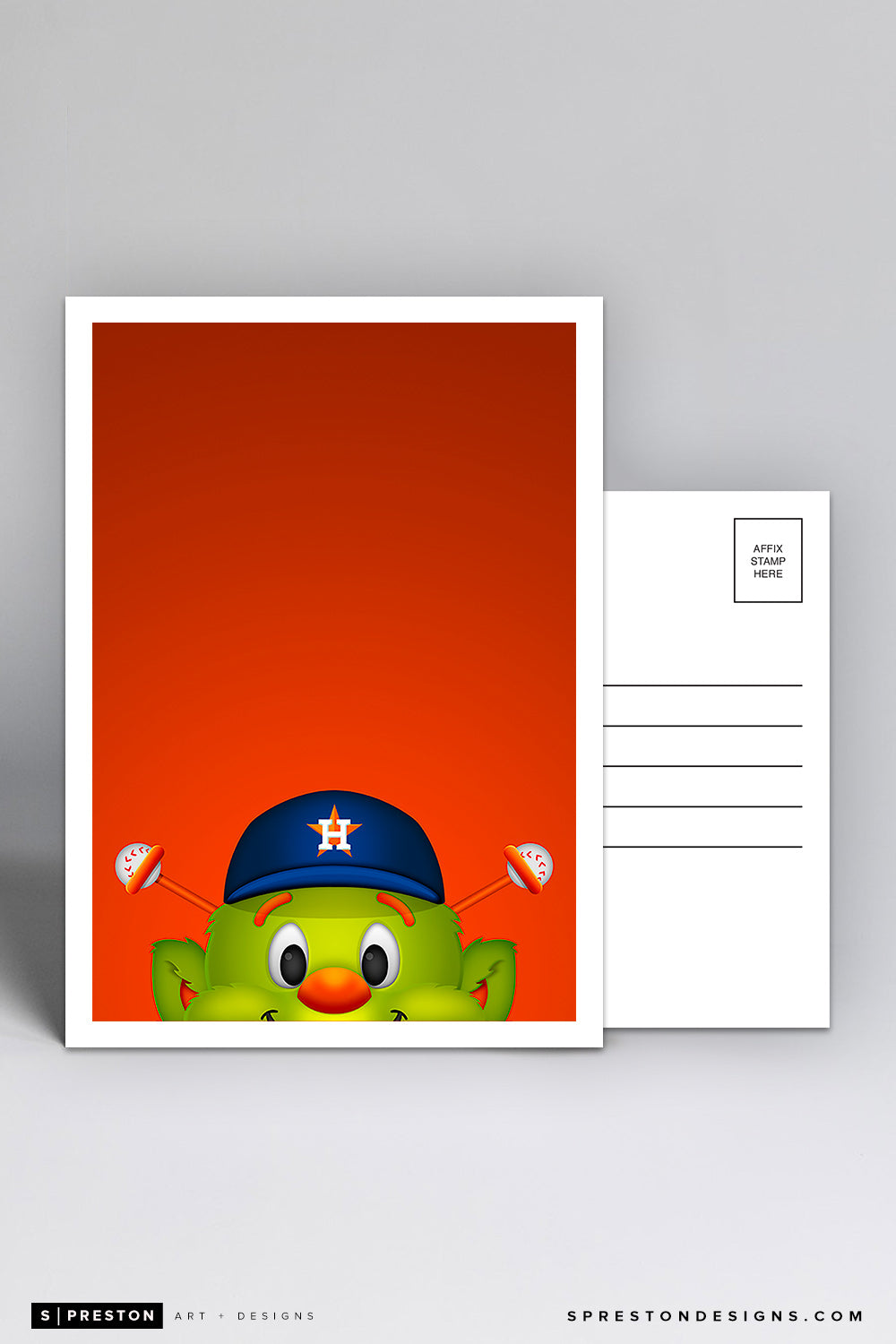 Minimalist Orbit Postcard Houston Astros Mascot
