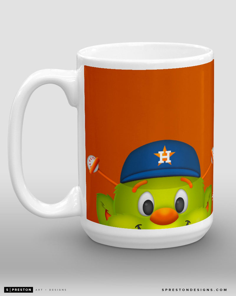Minimalist Orbit Coffee Mug - MLB Licensed - Houston Astros Mascot