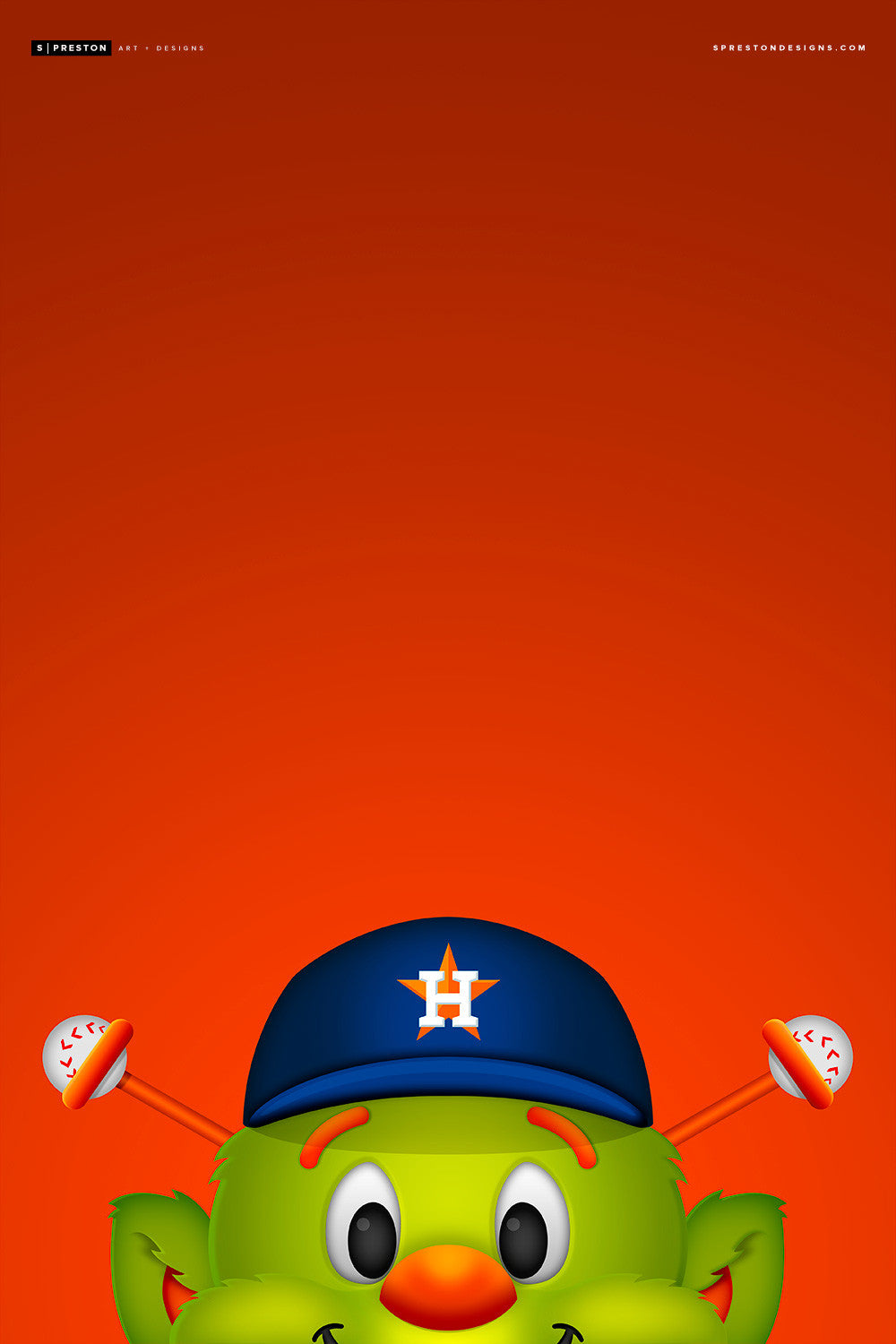 Minimalist Orbit Canvas Canvas - Houston Astros - S. Preston Art + Designs