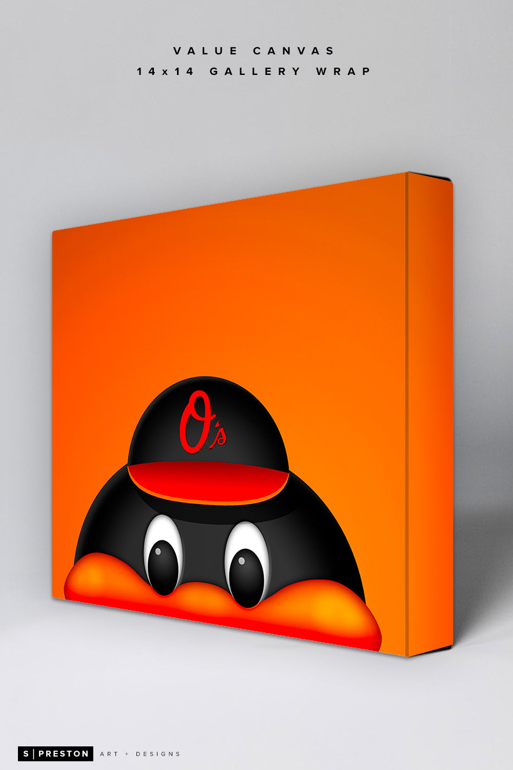 Minimalist Orioles Bird Value Canvas
