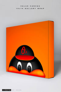 Minimalist Orioles Bird Value Canvas CLEARANCE