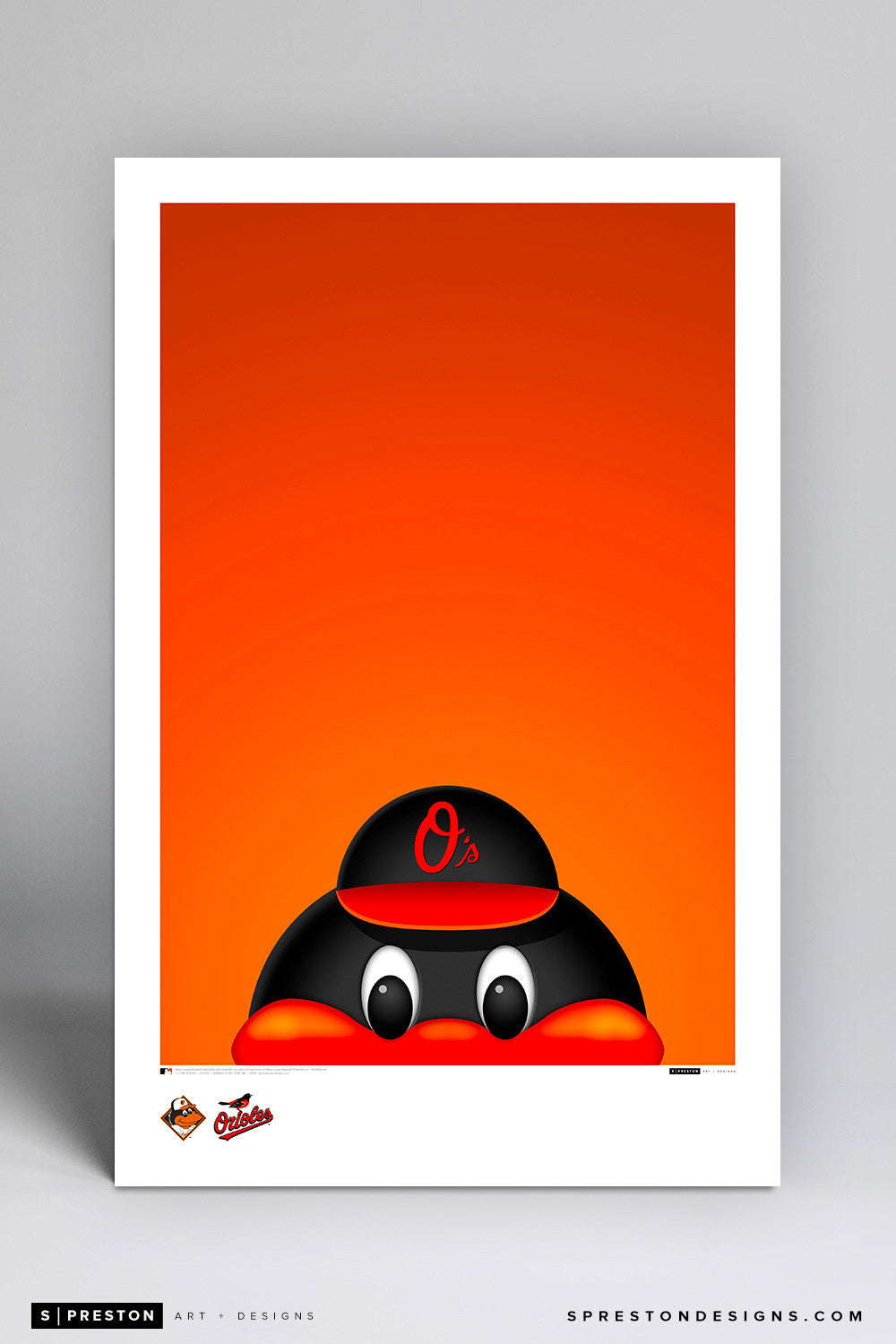 Minimalist Orioles Bird Art Poster Art Poster - Baltimore Orioles - S. Preston Art + Designs