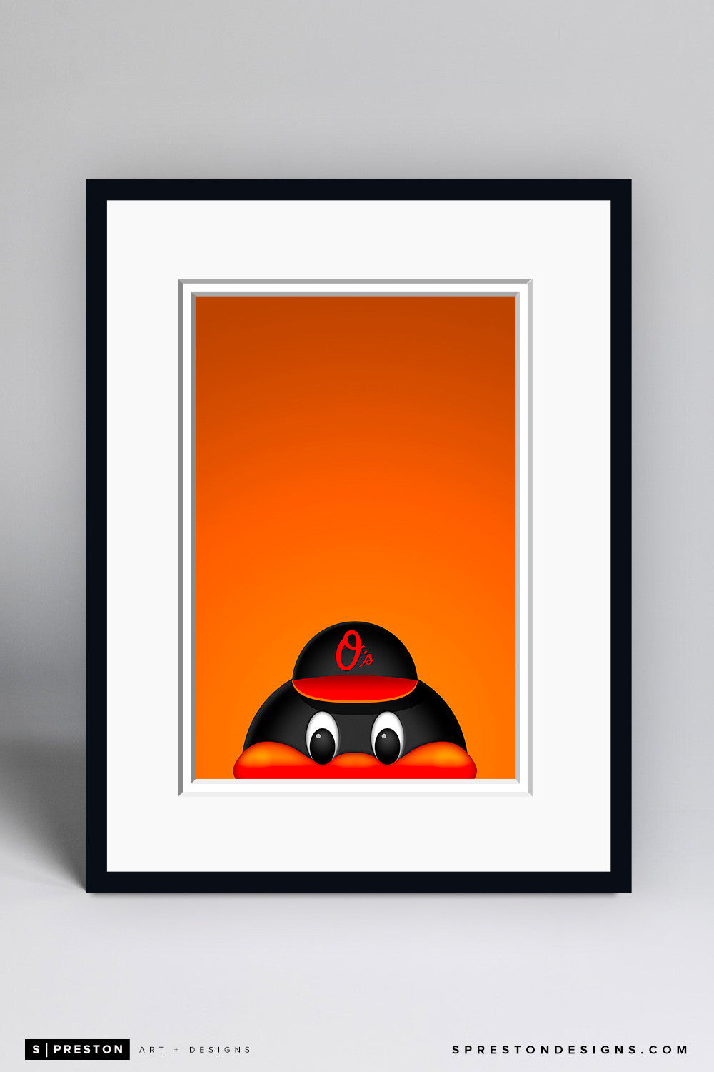 Minimalist Oriole Bird - Baltimore Orioles - S. Preston