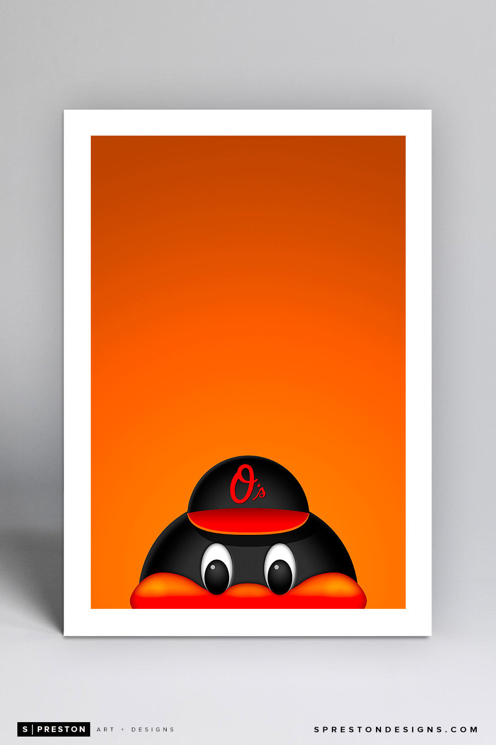 Minimalist Oriole Bird Art Print - Baltimore Orioles - S. Preston Art + Designs