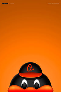 Minimalist Orioles Bird Canvas Canvas - Baltimore Orioles - S. Preston Art + Designs