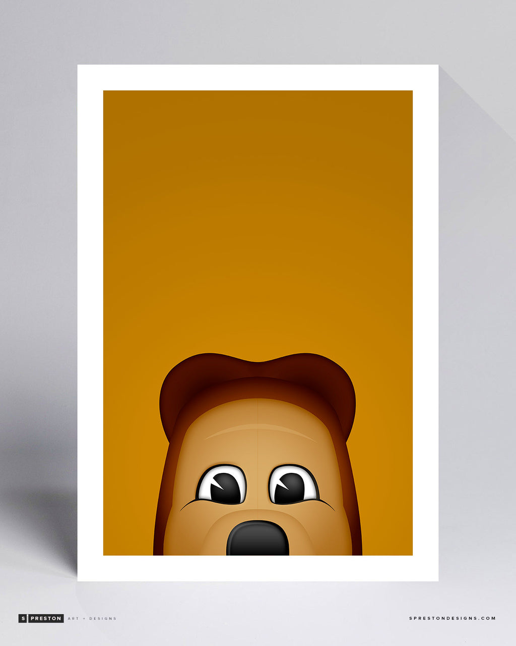 Minimalist Oski - Cal University Art Print - Berkeley - S. Preston Art + Designs