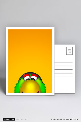 Minimalist Pirate Parrot Postcard