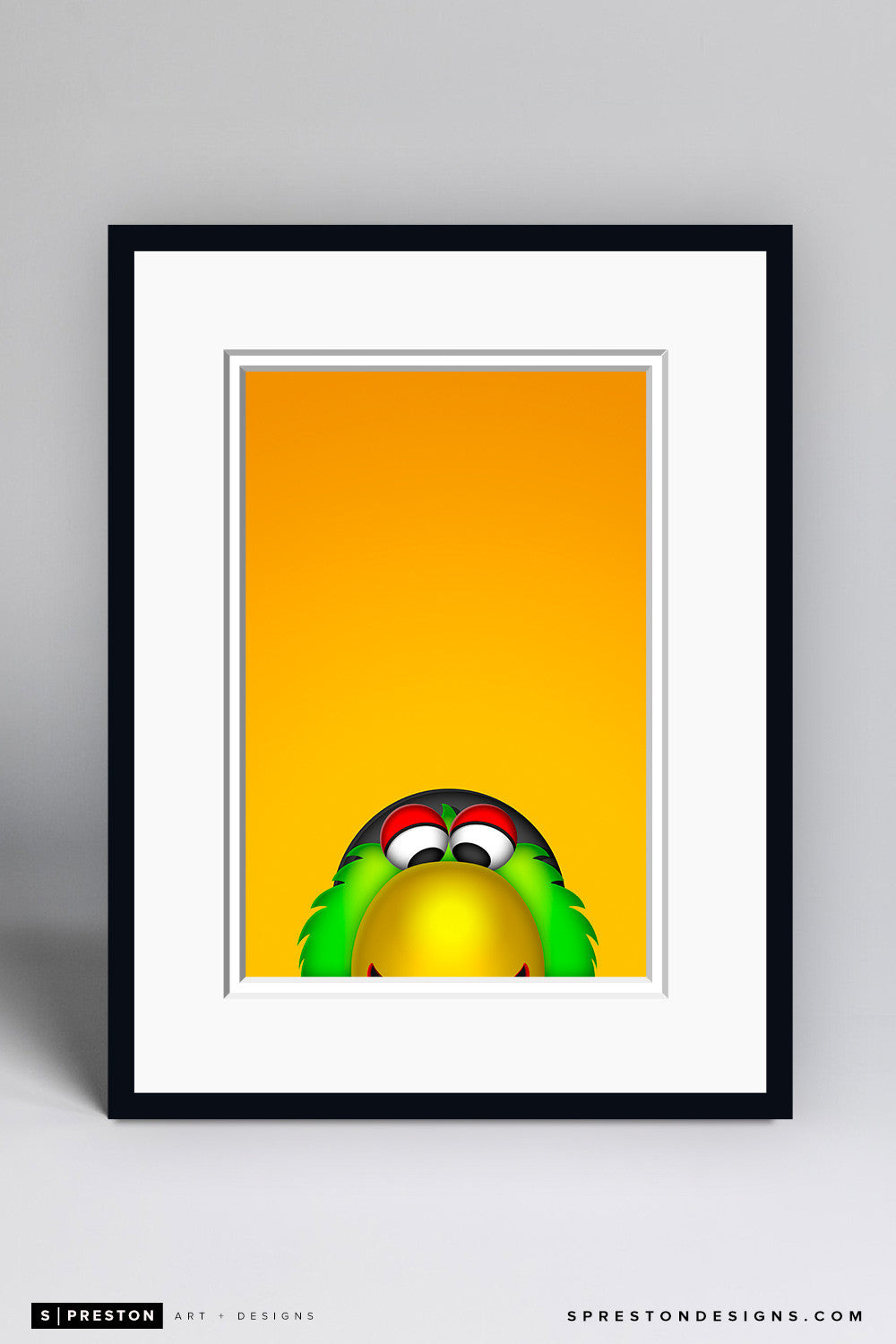 Minimalist Pirate Parrot - Pittsburgh Pirates - S. Preston