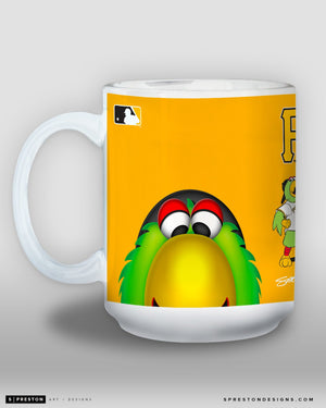 Minimalist Pirate Parrot Coffee Mug - MLB Licensed - Pittsburgh Pirates Mascot