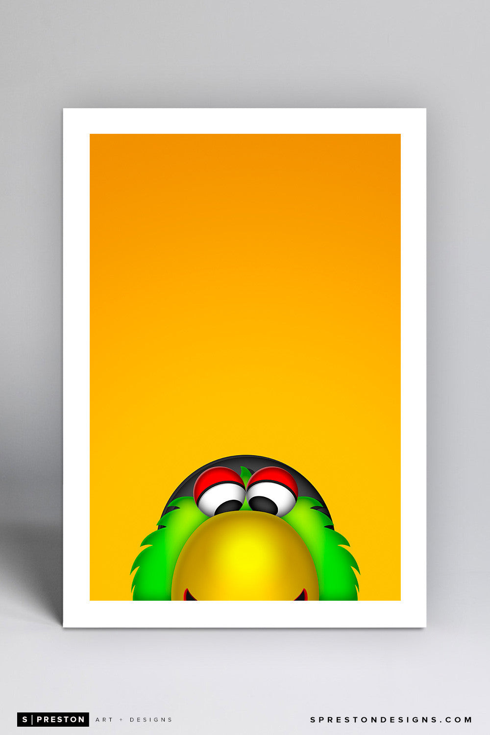 Minimalist Pirate Parrot Art Print - Pittsburgh Pirates - S. Preston Art + Designs