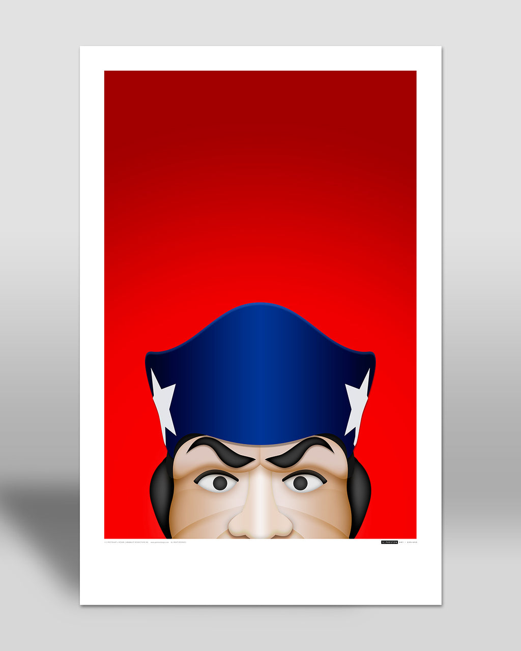Minimalist Pat Patriot Art Poster