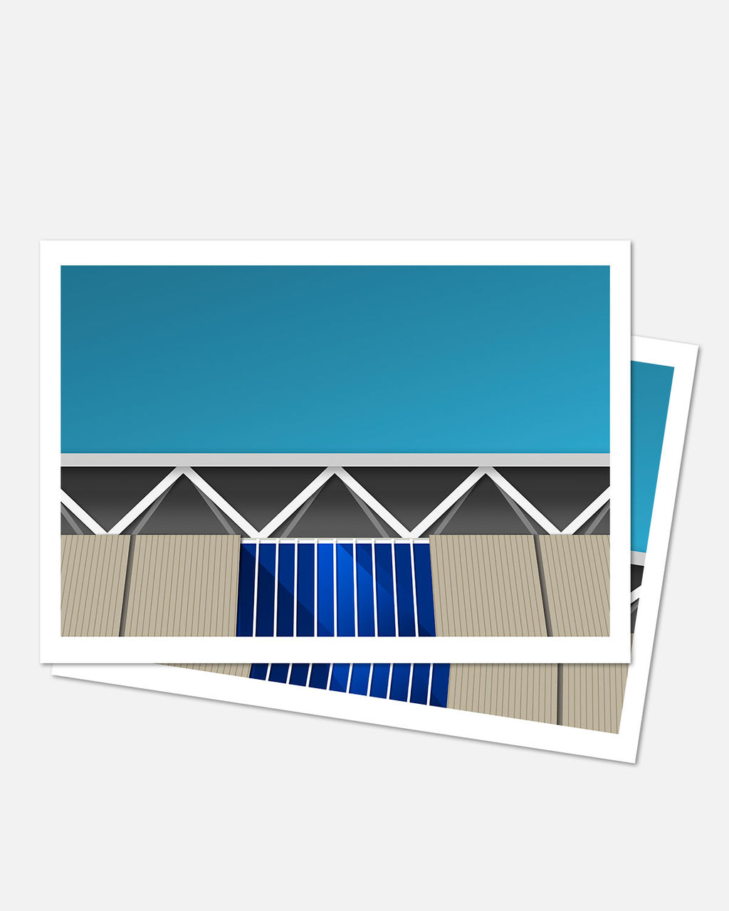 Minimalist Pauley Pavilion Art Card