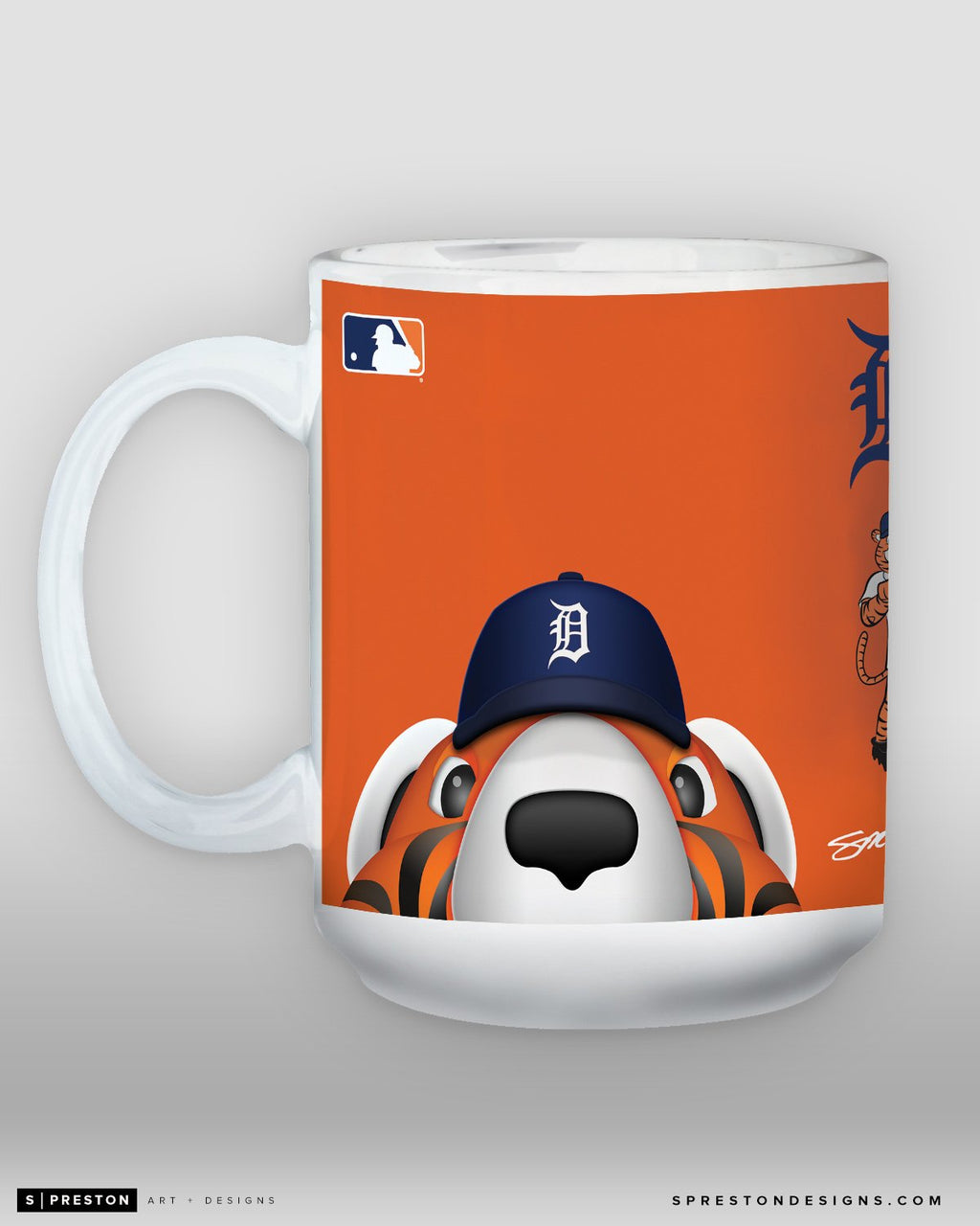 Minimalist Paws Coffee Mug - MLB Licensed - Detroit Tigers Mascot
