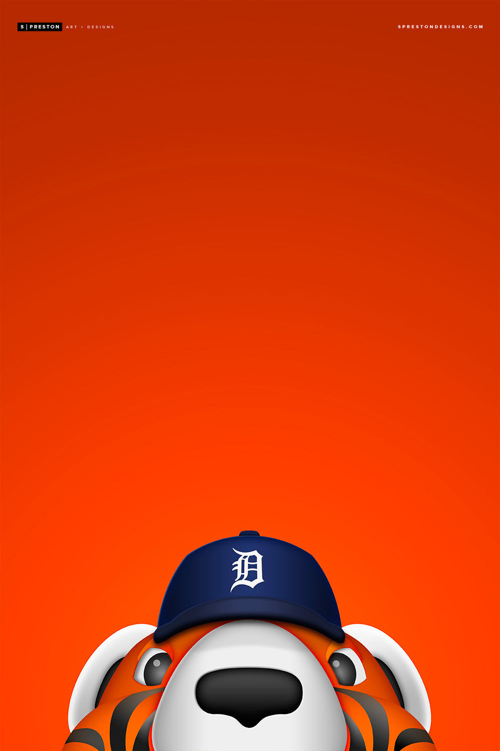 Minimalist Paws Canvas Canvas - Detroit Tigers - S. Preston Art + Designs