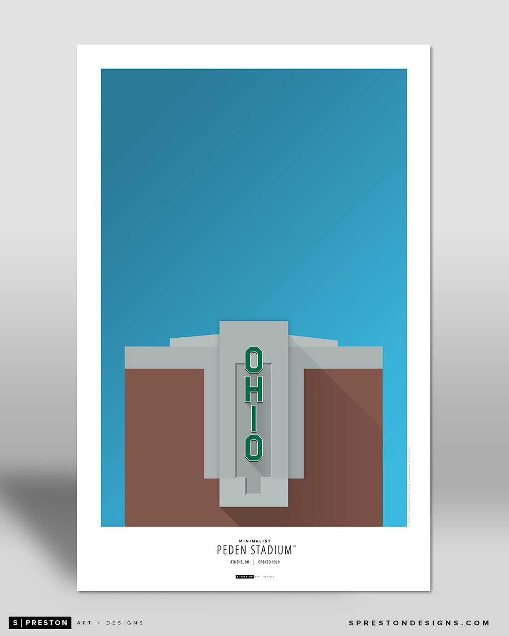 Minimalist Peden Stadium Poster Print Ohio University - S Preston
