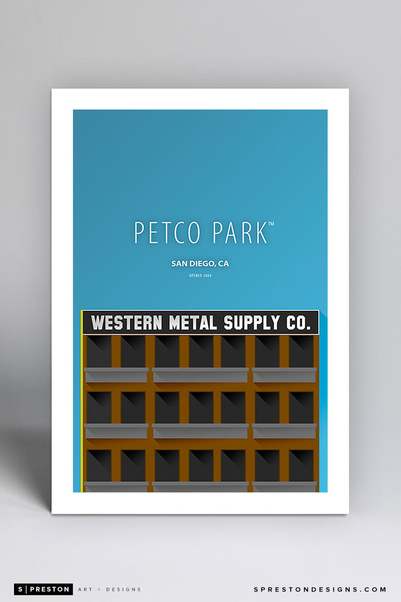 Minimalist Petco Park Large Print - Clearance Clearance - San Diego Padres - S. Preston Art + Designs