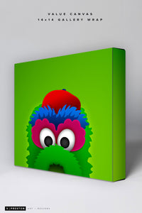 Minimalist Phillie Phanatic Value Canvas