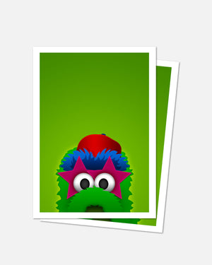 Minimalist Phillie Phanatic Art Card
