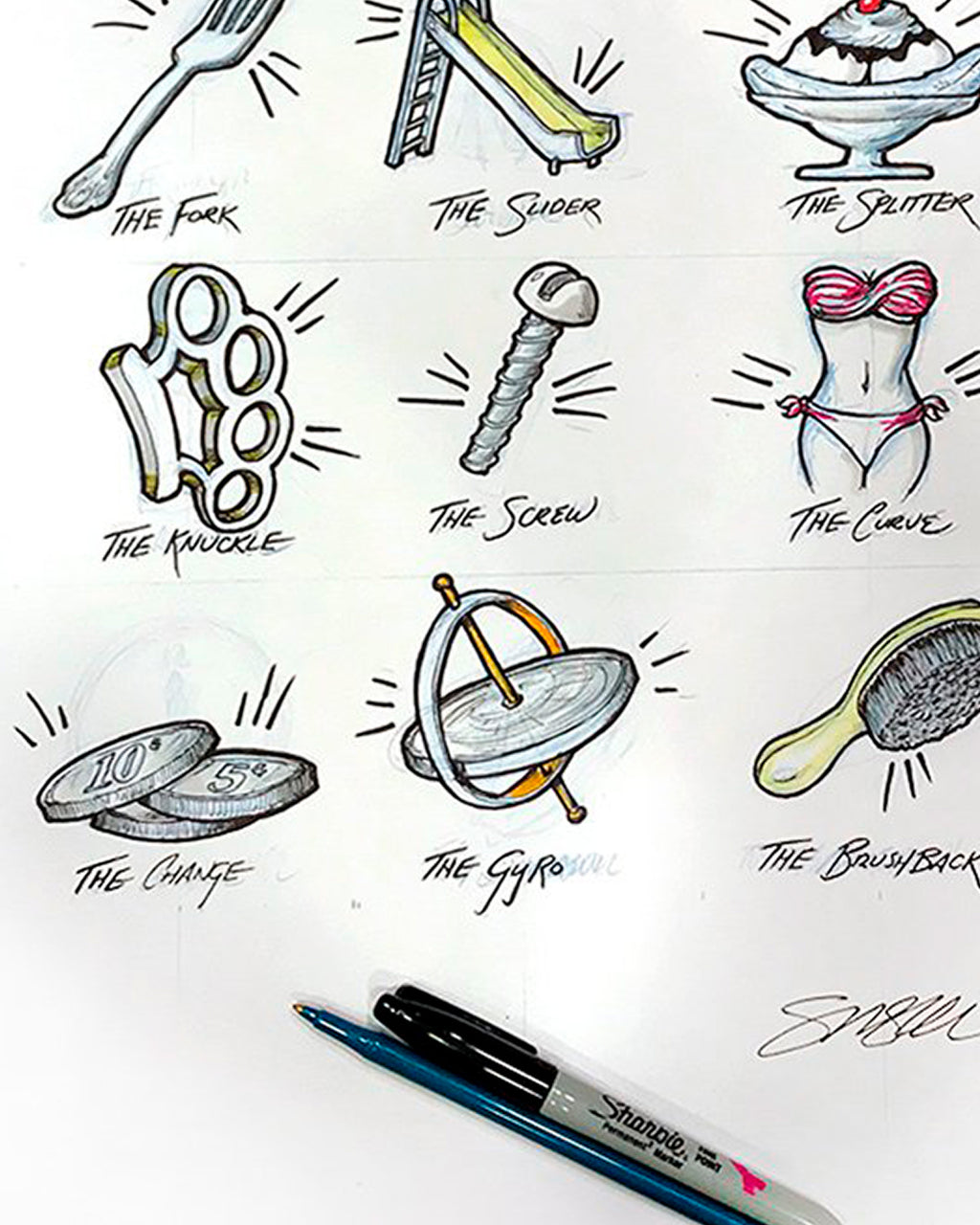 Pitching Metaphors Sketch - Original Sketch