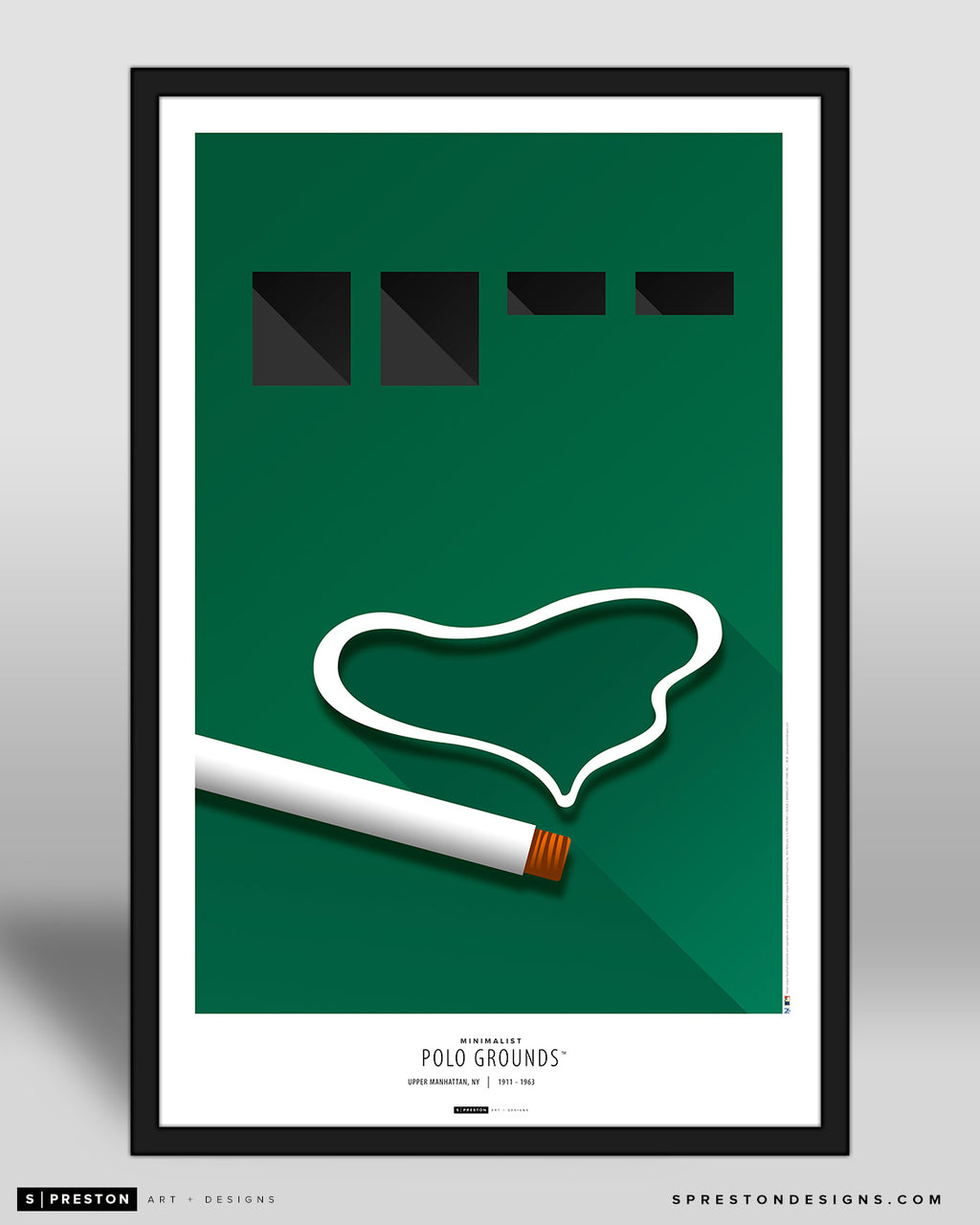 Minimalist Polo Ground Art Poster