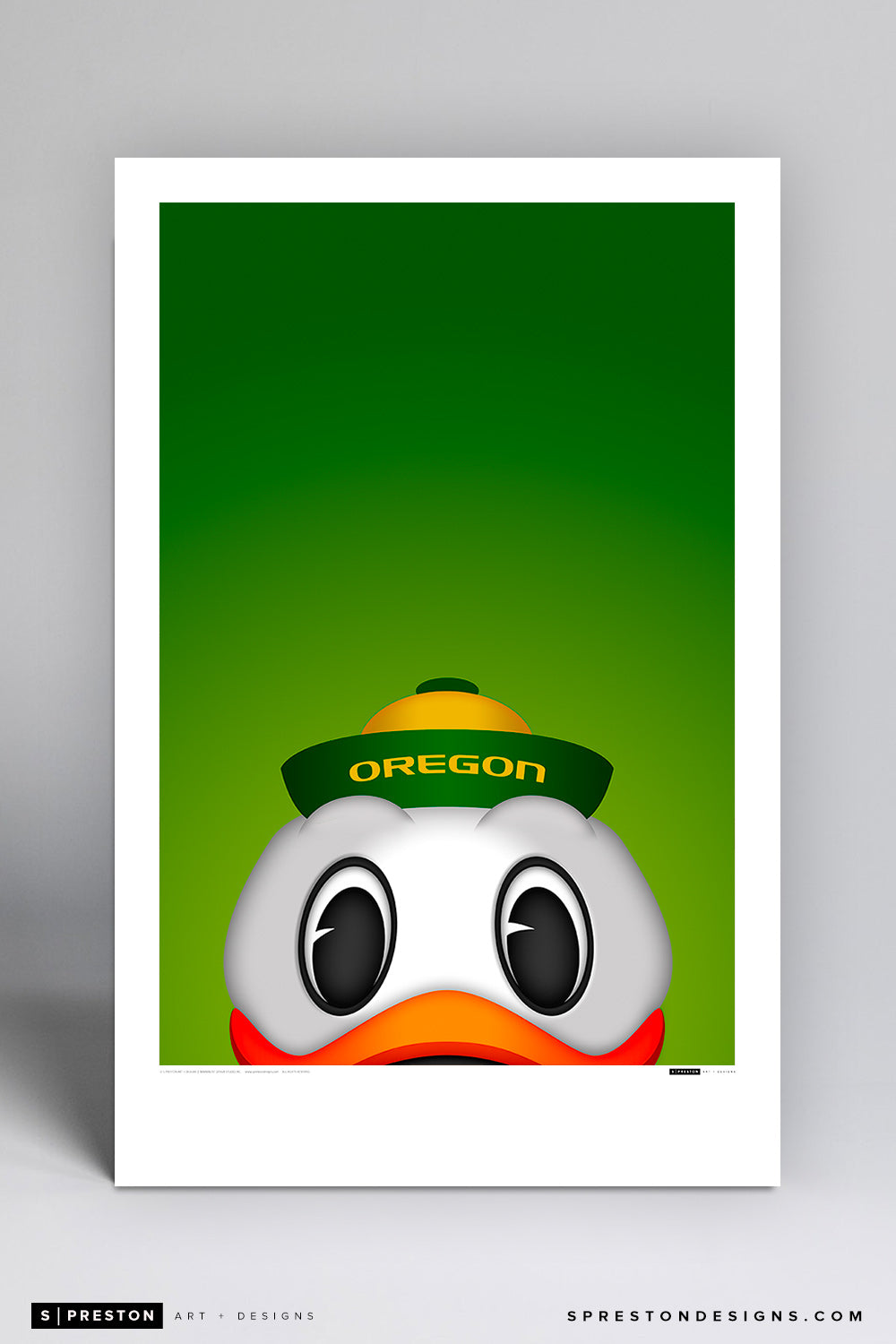 Oregon Duck - Oregon Ducks Poster Print - University of Oregon - S. Preston Art + Designs