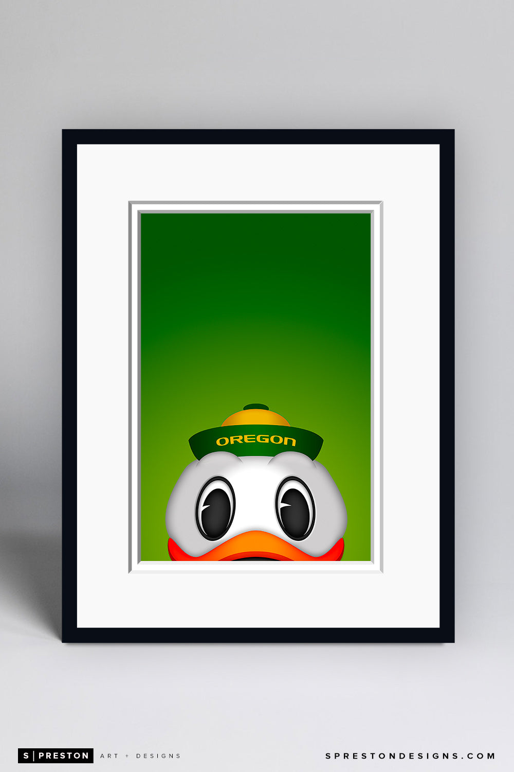 Minimalist Oregon Duck - Oregon Ducks Art Print - University of Oregon - S. Preston Art + Designs