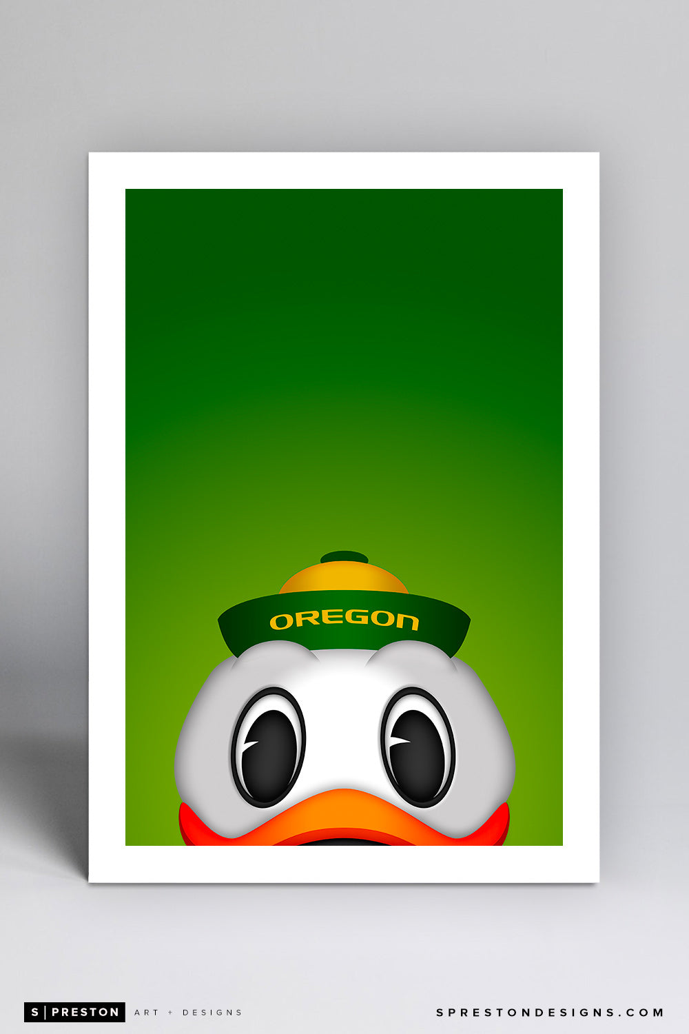 Minimalist Oregon Duck (Puddles) - University of Oregon - S. Preston