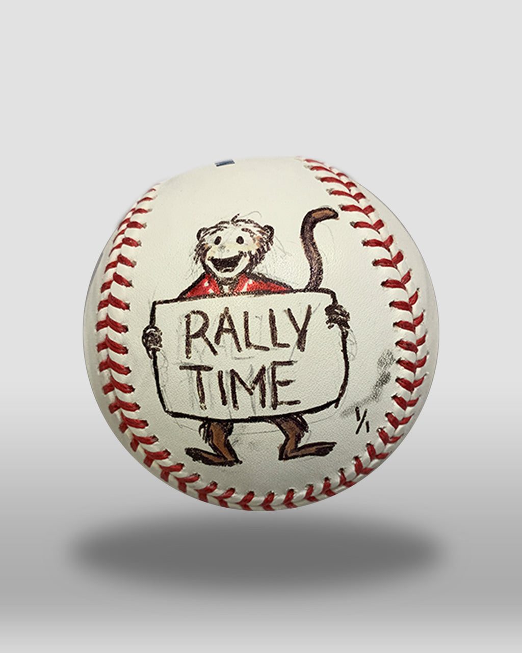 Rally Monkey Hand-Drawn Baseball Art