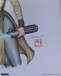 Jakku Jedi - Rey Star Wars Original Art